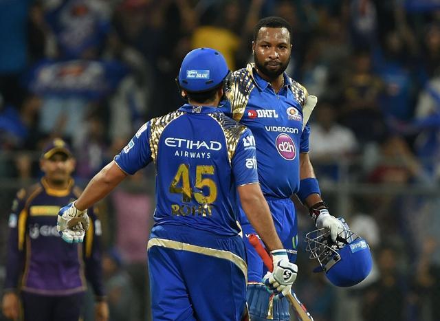 Mumbai Indians beat Kolkata Knight Riders by six wickets.