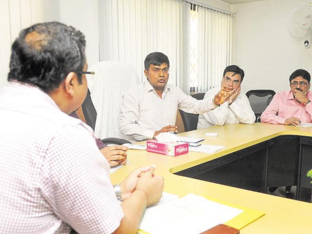 Santosh Yadav took over from Rama Raman, chairman of Noida authority, on Thursday.