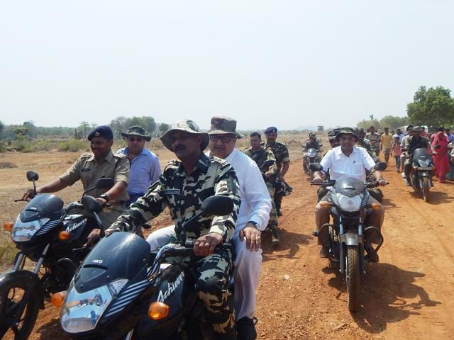Chief minister Raman Singh interacts with villagers during a 'chaupal' in Narayanpur district.