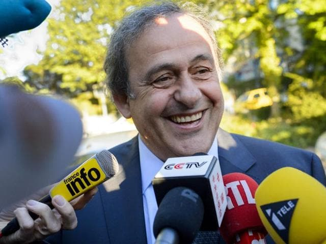 Michel Platini arrives to appear before the Court of Arbitration for Sport to appeal his six-year Fifa ban.