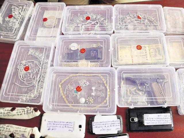 The police recovered seven mobile phones, one laptop, three Rado and Rolex watches, 2kg of gold and silver jewellery, diamond earrings and an Apache bike from the accused.