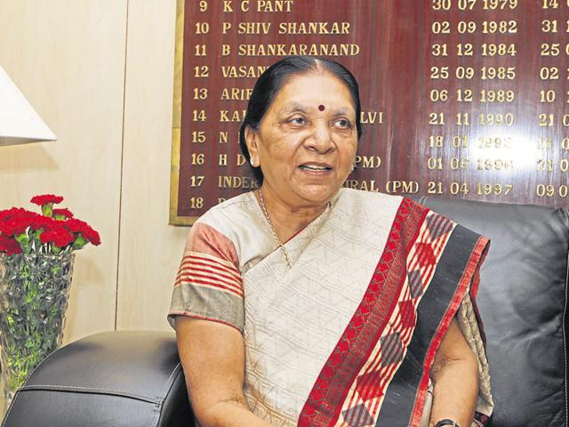 File photo of Gujarat chief minister Anandiben Patel .