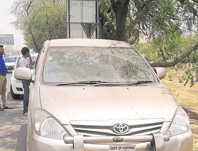 The car in which the body was found.