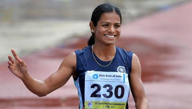 Indian sprinter Dutee Chand.