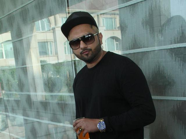 Yo Yo Honey Singh in Jalandhar on Friday.