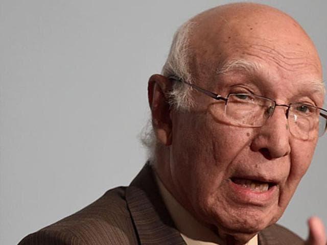 File photo of Pakistan National Adviser Sartaj Aziz.