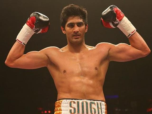Vijender was declared the winner in the fifth round of the six-round super middleweight contest.