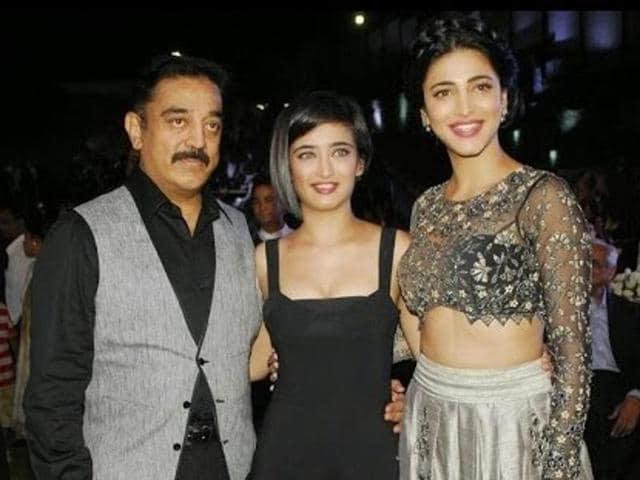 Kamal Haasan's Sabaash Naidu will have daughters Akshara and Shruti collaborating with him.(YouTube grab)