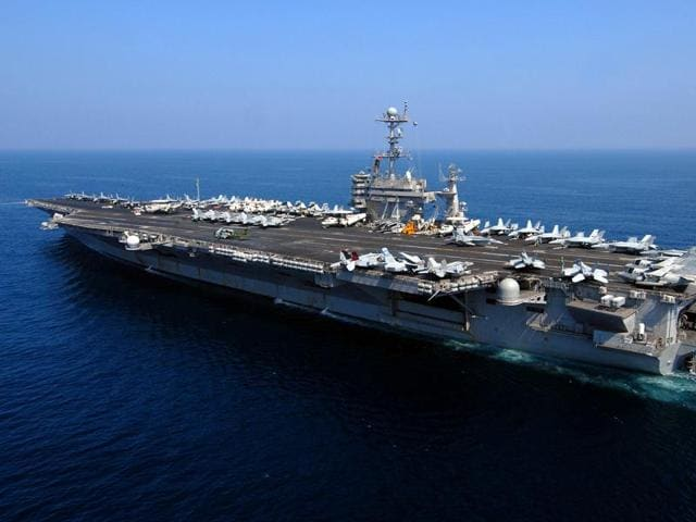 File photo of the Nimitz-class nuclear-powered aircraft carrier USS John C Stennis as it conducts operations in the Gulf.