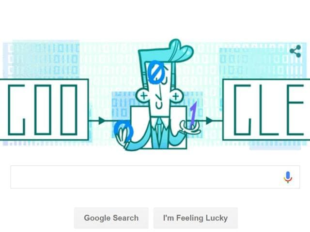 Google marked the 100th birthday of Claude Shannon, father of information theory, with a doodle on April 30, 2016.