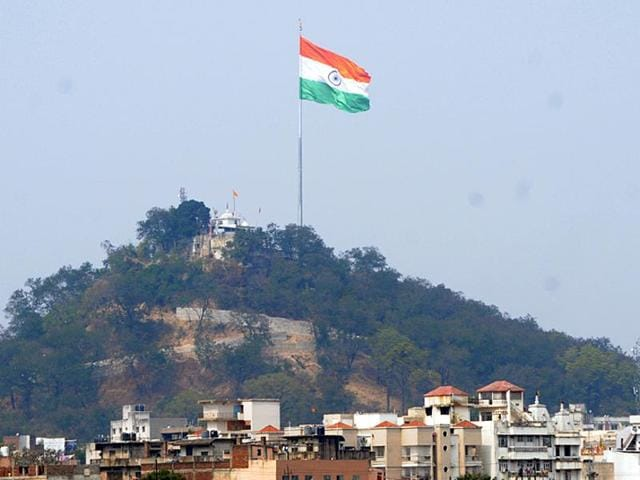 A gigantic Indian national flag, purported to be the tallest and largest,  was hoisted in Ranchi in January, 2016. Another Tricolour, taller and larger than this one, is to be unfurled in Raipur on Saturday, April 30, 2016.