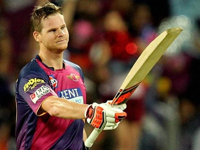 Steve Smith scored 101 off 54 balls for his maiden T20 ton.