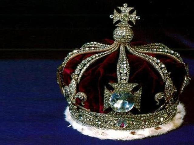 The Kohinoor diamond as part of the British Monarch's crown. (HTFile Photo)