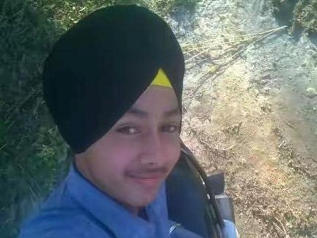 Amandeep Singh in another selfie.
