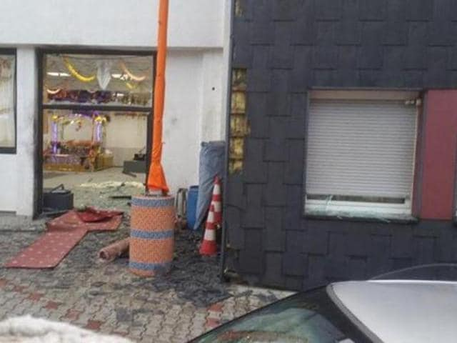 An explosion ripped through the entrance hall of the Nanaksar Satsang Sabha Gurdwara on the evening of April 16, shortly after it hosted a wedding ceremony.