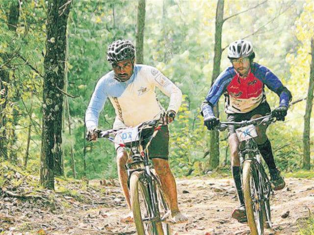 Dattareya Patil during the 10 MTB Himalayas, India's premier mountain biking event held in Himachal Pradesh.