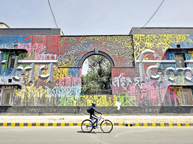 Lodhi Colony is the country's first public art district.