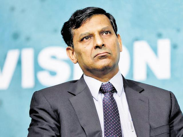 In this file photo, RBIgovernor Raghuram Rajan speaks at a forum on financial development at the 2016 IMF World Bank Spring Meeting in Washington.