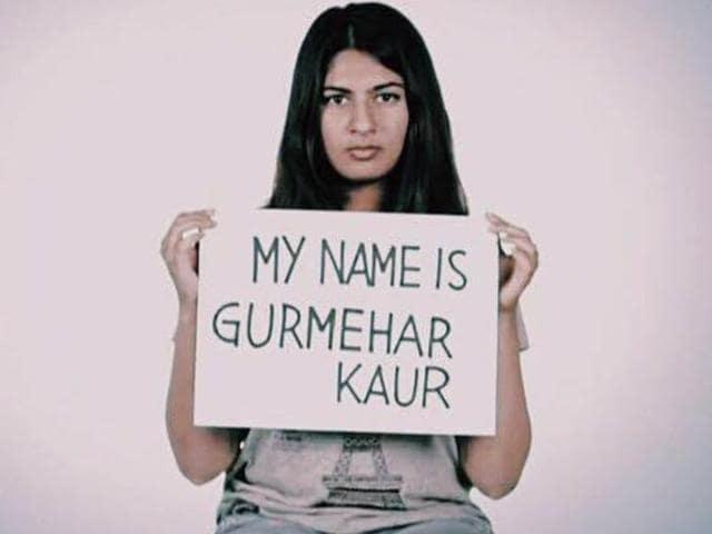 Gurmehar Kaur,Indo-Pak war,Kargil war