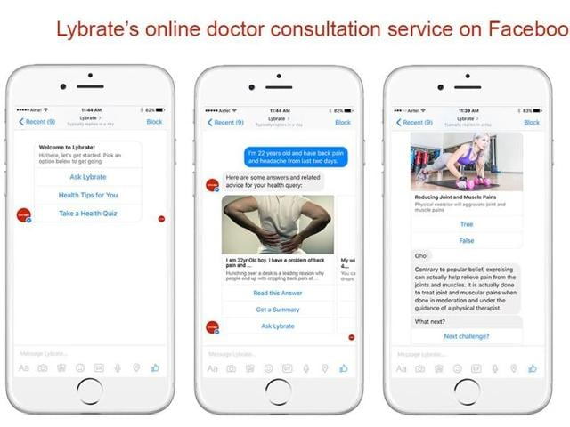 The company said that its bot on Messenger will help people ask a health-related query from its network of over 100,000 doctors in real-time, and gain seamless access to authenticated medical content that is shared by healthcare experts themselves