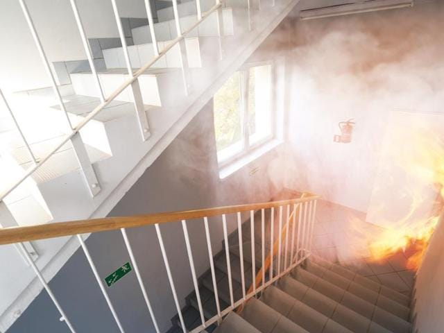 Officials said the fire occurred on the sixth floor staircase of the Lok Nayak Bhavan in Khan Market area where the ED's office is located.