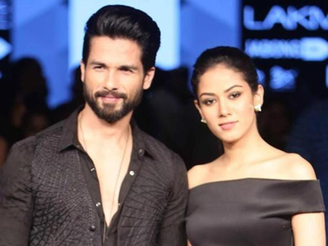 Shahid and Mira at an event in Mumbai. (PTIPhoto)