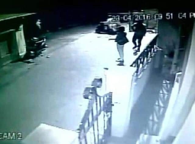 The incident was caught on a CCTV camera in which the woman is seen being physically lifted and carried away by the man from behind as she was speaking on her mobile phone in front of her paying guest (PG) accommodation.