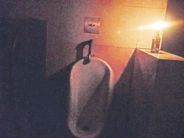 At some places, shopkeepers are going inside the toilets after lighting candles.