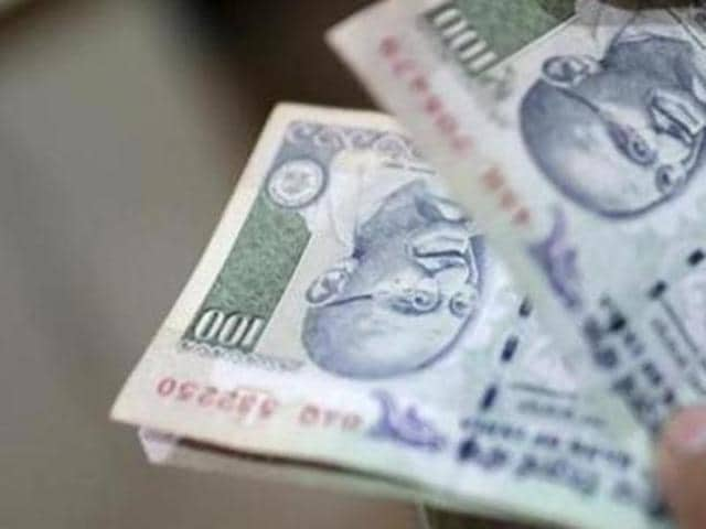 Rupee weakened by 8 paise to 66.41 against the dollar in early trade on Monday at the Inter-bank Foreign Exchange market.