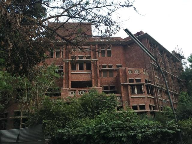 The college has been seeing protests by students who are opposing the high fees and alleged discriminatory rules for the new girls' hostel.