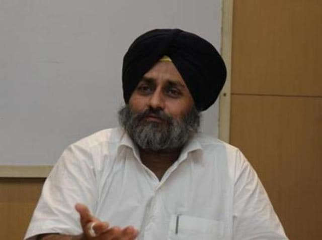 Punjab deputy chief minister Sukhbir Badal