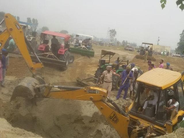The victims were rescued  with the help of excavation machines and tractors on Tuesday.