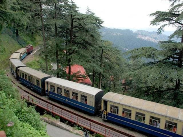 The narrow-gauge Kalka-Shimla railway attracts thousands of tourists every year.