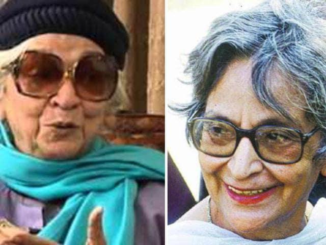 Krishna Sobti (left) and Amrita Pritam (right)(HT Photos)