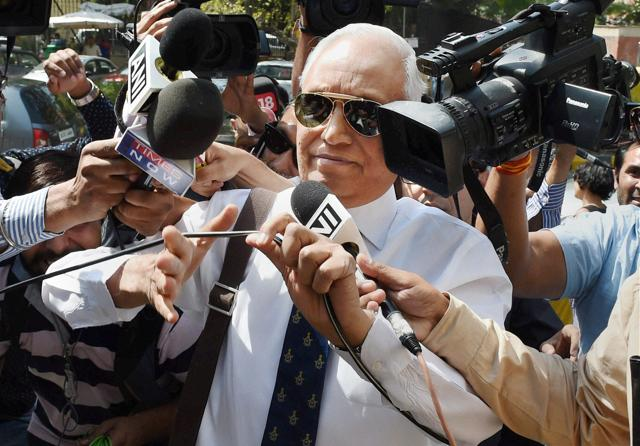Tyagi was questioned in 2013 too but Monday's session was the first after the Italian court order.(Photo by Arvind Yadav/ Hindustan Times)
