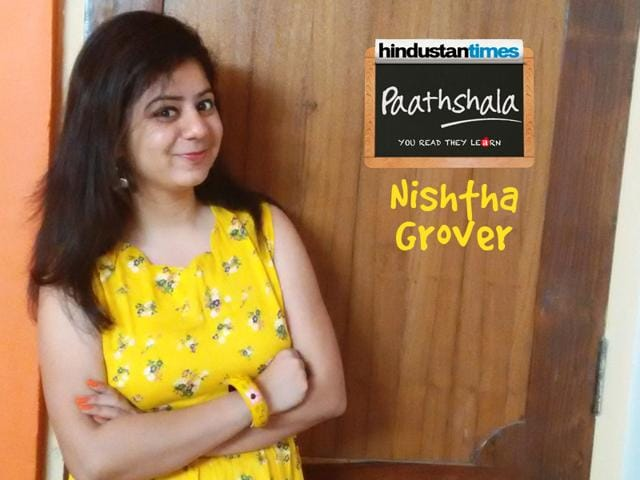 Nishtha Grover, a 19 year old student of Applied Psychology, enjoys volunteering with HT Paathshala and learning some valuable life lessons.
