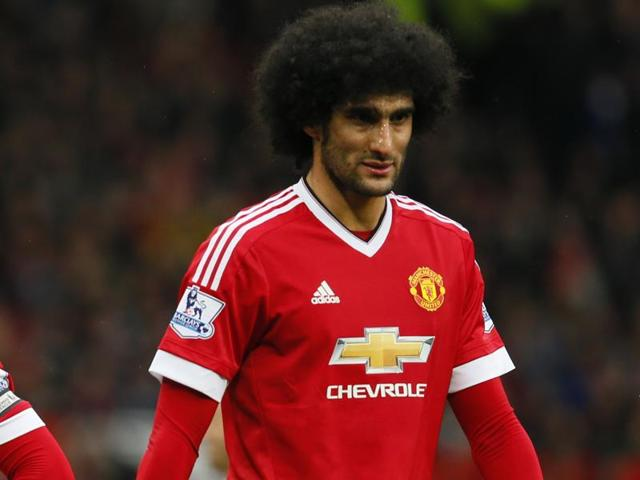 Leicester City's Robert Huth (not pictured) and Manchester United's Marouane Fellaini were charged with violent conduct on Tuesday after clashing in Sunday's 1-1 draw at Old Trafford.
