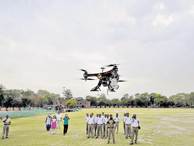 According to the traffic police, these drones can fly up to 50 metres and survey area in a two-kilometre radius.