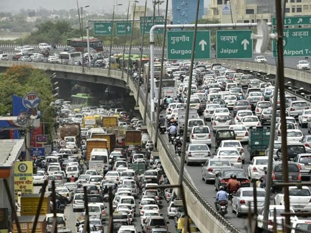 Scores of drivers of diesel taxis blocked three major roads on Tuesday.