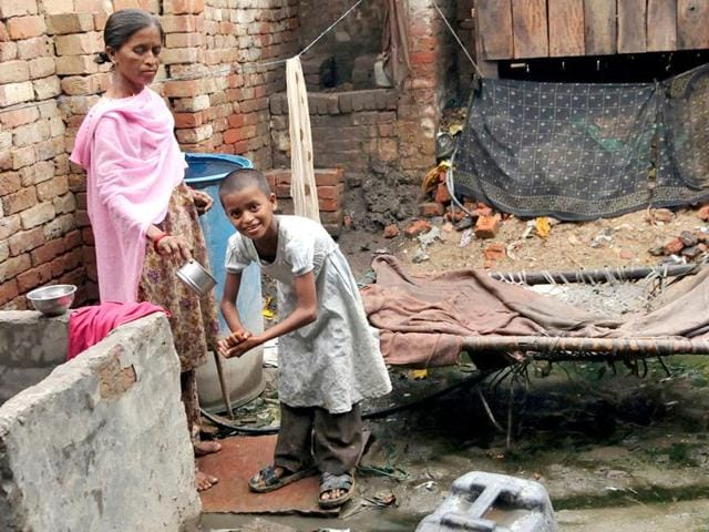 60 children of labourers living in Kanota area fell ill and 23 were hospitalized, in a suspected case of food poisoning.