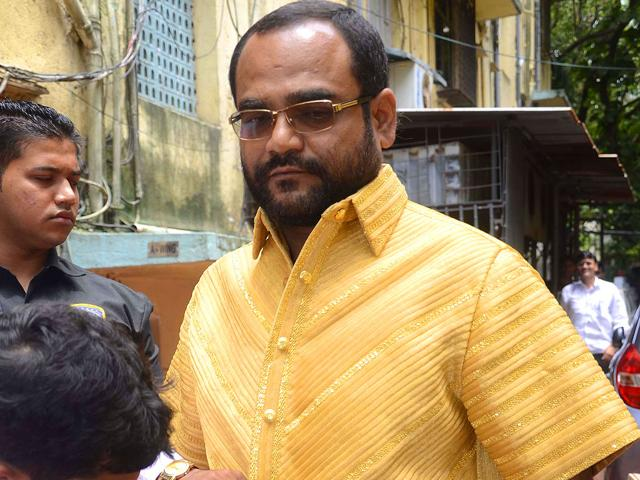 """Maharashtra's businessman-politician Pankaj Parakh wearing a golden shirt costing Rs 1.30 crore. The four-kg gold attire, crafted with pure gold strands, has entered the Guinness Book of World Records as the """"most expensive gold shirt""""."""