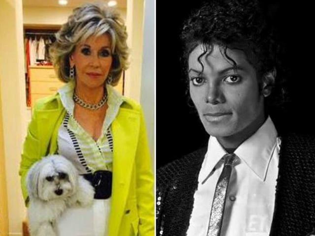 Actor Jane Fonda said she once swam naked with the legendary singer Michael Jackson.