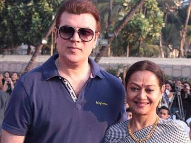 Aditya Pancholi and Zarina Wahab during the 'muhurat' of a film in Mumbai on March 11. (IANS)