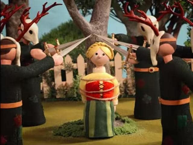 A still from Radiohead's new video 'Burn the Witch'.