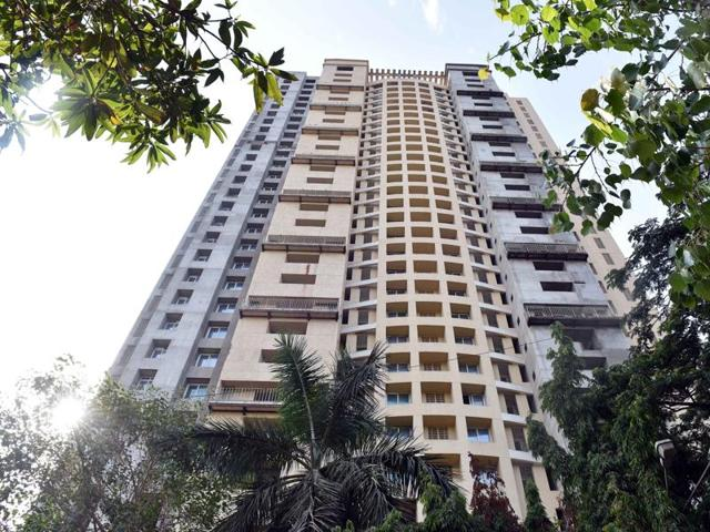 Adarsh Society at Cuffe Parade in Mumbai. The Supreme Court has ordered the apartments to be razed.