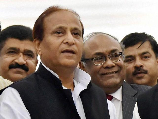 File photo of Uttar Pradesh parliamentary affairs and urban development minister Azam Khan.