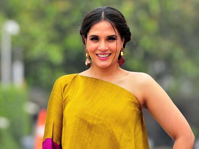 Actress Richa Chadha in Chandigarh on Tuesday.