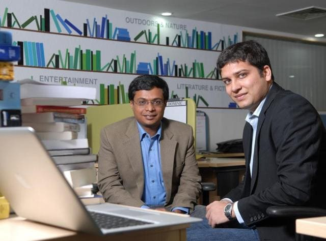 Flipkart CEO Binny Bansal (left) and executive chairman Sachin Bansal. Sachin recently acknowledged that raising fresh funding was difficult for most internet-based companies.