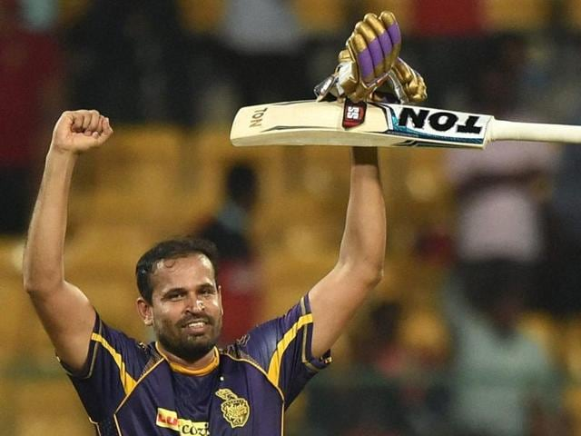 Yusuf Pathan hit an unbeaten 29-ball 60 to help Kolkata Knight Riders chase down Royal Challengers Bangalore's 186-run target.