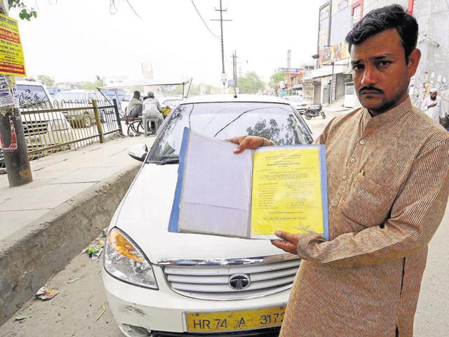 Manmohan Chauhan of Hoshiyarpur, Noida, bought an Indigo two years ago and says the government should give him time to at least repay the vehicle loan.